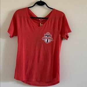 Mitchell & Ness Toronto FC T-Shirt Red Small